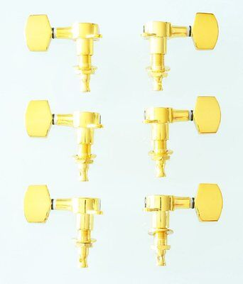 6 Mechaniken für E-Gitarre Gold (3li/3re) Guitar Tuner