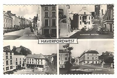 wales welsh postcard haverford west