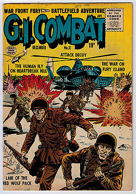 G.i. Combat #31 3.5 Quality Comic Cream To Ow Pages Golden Age