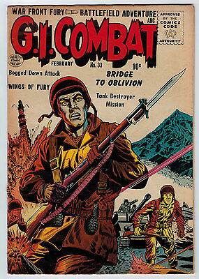 G.i. Combat #33 4.5 Quality Comic Cream To Ow Pages Silver Age