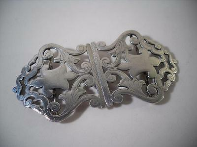 An Antique Solid Silver Belt Buckle : London 1897