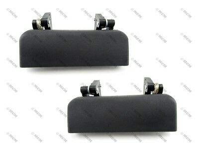 93-97 Ford Ranger Exterior Outside Door Handle, Black Plastic, Front PAIR
