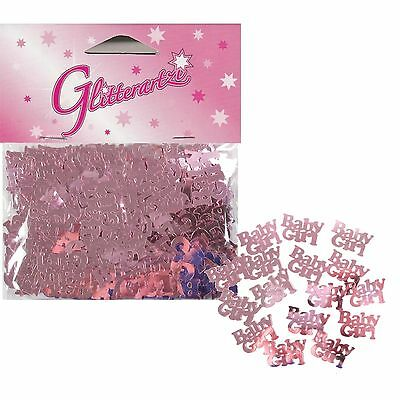Baby Girl Pink Baby Shower Foil Table Scatters Confetti Party Decoration