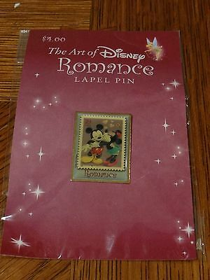 THE ART OF ROMANCE LAPEL PIN - Mickey and Minnie NEW AND IN PACKAGE