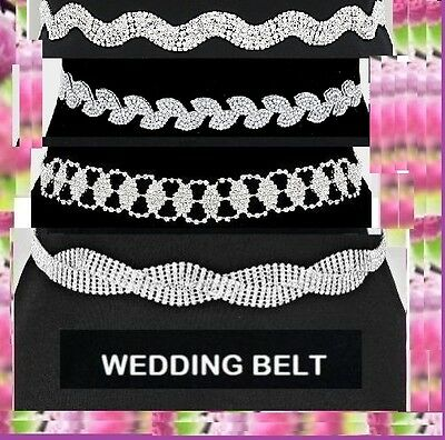 Wedding Crystal Pearl Rhinestone Dress Braidal Belt Kimono Sash Fabric Ribbon