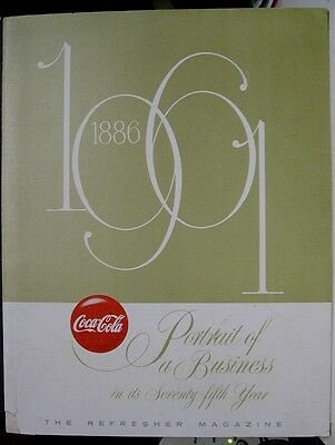 1961 Coca-Cola Portrait of a Business in it's 75th Year Book