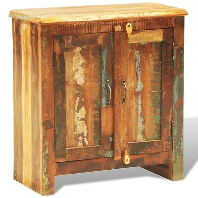 NEW Reclaimed Wood Cabinet with Two Doors Vintage Antique-style Storage Handmade