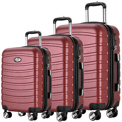 REISEKOFFER 4tlg. TROLLEY 360° KOFFER SET KOFFERSET BEATY CASE Coffee