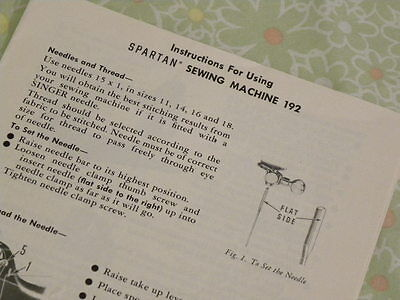 SINGER Sewing Manual - 192K Spartan