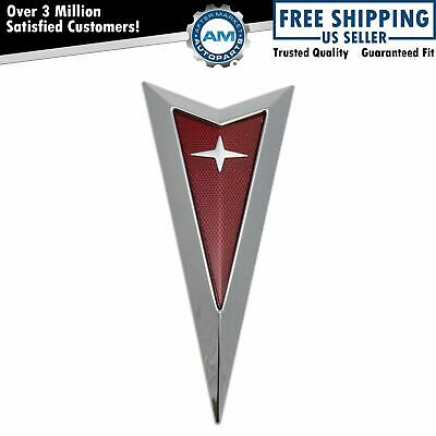 OEM 15275785 Front Bumper Mounted Arrowhead Emblem Chrome /& Red for Solstice New