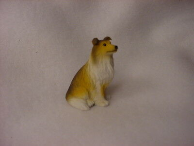 COLLIE Sable puppy TiNY Dog FIGURINE Resin HANDPAINTED MINIATURE Mini Statue NEW