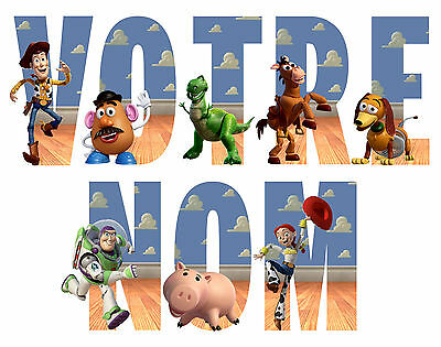 Sticker / Autocollant Toy Story  Personnalisable Nom 3 Tailles