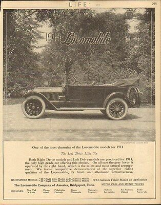 1914 Locomobile Model 48 Bridgeport CT Automobile Magazine Ad mc2545