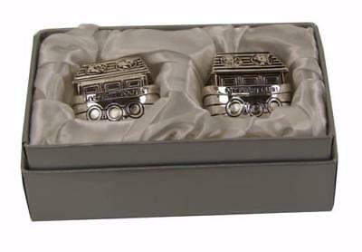 Noah's Ark Silver Plated First Tooth and Curl Trinket Box Keepsake Set CG406
