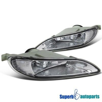 fit 2005-2008 Toyota Corolla Bumper Lamps Fog Lights Kit+Switch Clear