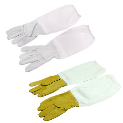 1pair Protective Goatskin Vented Long Sleeves Bee Keeping Tool Beekeeping Gloves