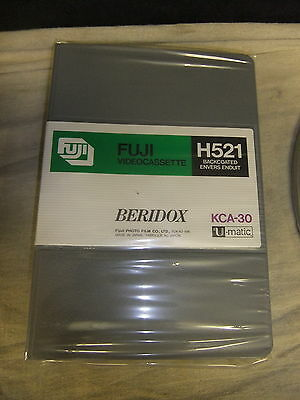 Cassette tape UMATIC FUJI H521 backcoated KCA-30 BERIDOX sealed unopened