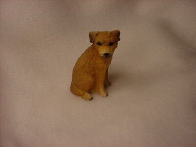 BORDER TERRIER puppy TiNY FIGURINE Dog HAND PAINTED MINIATURE Mini Resin Statue