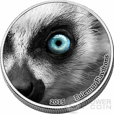 LEMUR Natures Eyes 2 Oz Silver Coin 2000 Francs Congo 2015