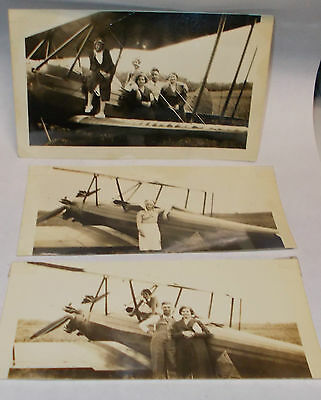 3 Vintage 1930`s Female Aviator/Pilots Photographs, ID`d