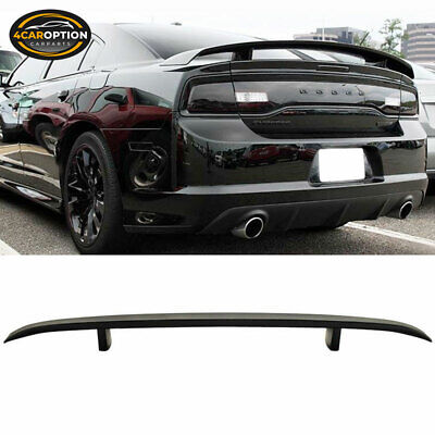 Dodge Charger 06-10 OE Style Rear Trunk Spoiler Wing Lid Matte Black ABS