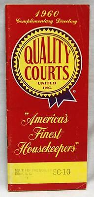 Quality Courts Motel Nationwide Directory Brochure Guide 1960 Vintage Trave