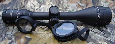 Nikko Stirling Panamax 4-12x50 AO IR Wide FOV Etched Half Mil Dot Rifle Scope