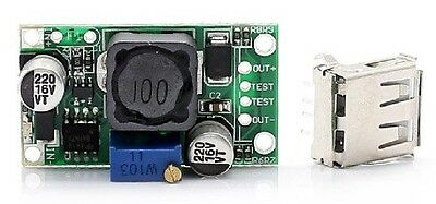 DC-DC 3V to 5-9V 2A Boost DIY Mobile Phone Power Supply Module + USB CHIP 124A