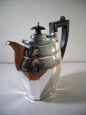 A Good Quality Georgian Style Silver Coffee Pot / Water Jug: Chester 1935