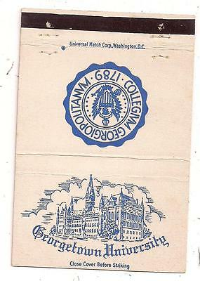 Georgetown University Sugar's Drug Store 3500 O St. Washington DC Matchcover