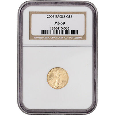 2005 American Gold Eagle (1/10 oz) $5 - NGC MS69
