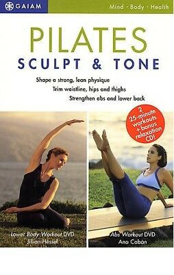 2-Dvd Pilates Sculpt & Tone Abs + Lower Body Workout + Audio Cd Boxset +Bonuses