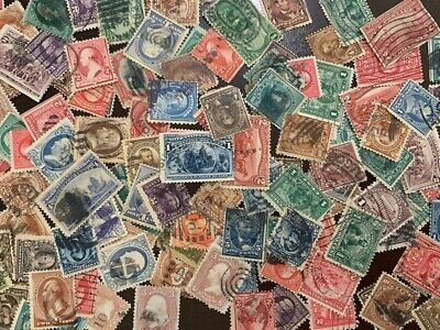 ⭐️Collection of 170 DIFFERENT U.S. Stamps AND $10 of Old U.S. Stamps 1800s 1900s