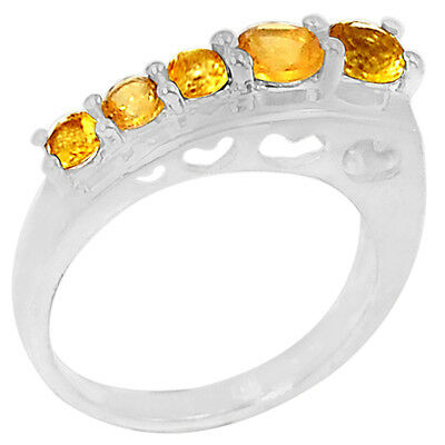 1.7cts Citrine 925 Sterling Silver Ring Jewelry s.7 R5153C-7