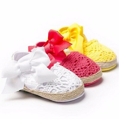 Infant Toddler Baby Girl Soft Sole Shoes Trainer Anti-lip 0-18 Months Hot Gifts