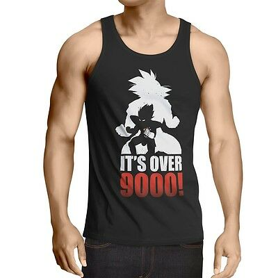 Vegeta Power Level 9000 Herren Tank Top goku dragon anime ball son roshi Z super