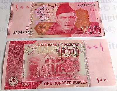 Pakistan  Hundred Rupees Rs 100 UNC Banknote Currency Note World Money Crisp New
