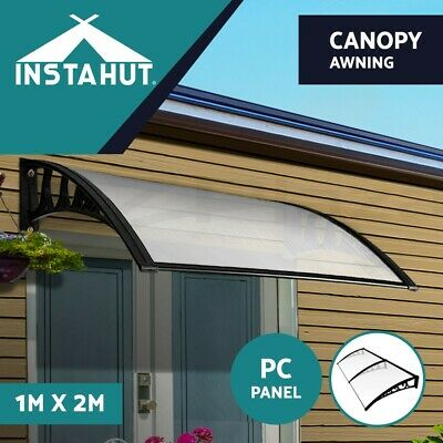 1m x 2m DIY Window Door Awning Canopy Patio UV Rain Outdoor Cover Sun Shield WH