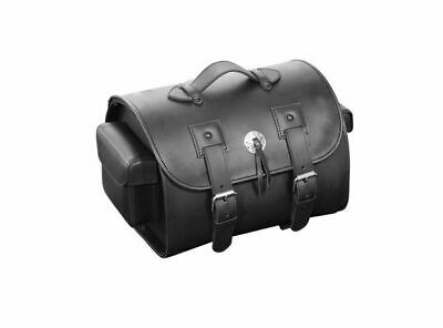 Suitcase Style Tail Bag Black Synthetic Leather for Sissybar/Luggage Rack