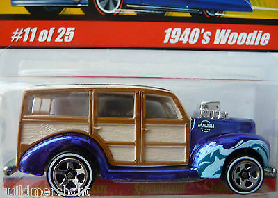 Hot Wheels 1940's WOODIE '40's Woodie Station Wagon Dark Blue CLASSICS Series 1