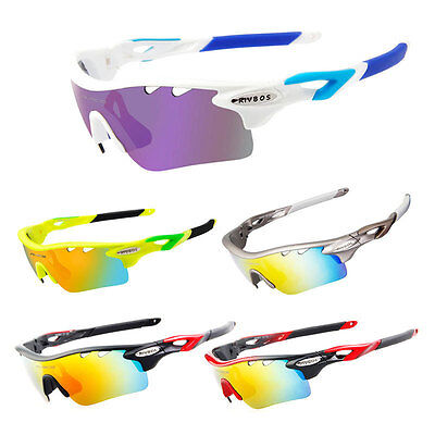 Cycling Sunglasses Polarized Bicycle Eyewear 5 Lens Sport Glasses Goggles UV400