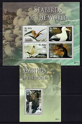St. Kitts 2007 Seabirds Sheetlet 4 + M/S  MNH