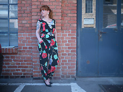 Betty Barclay Blumen Overall Jumpsuit 90er TRUE VINTAGE floral print flowers 90s