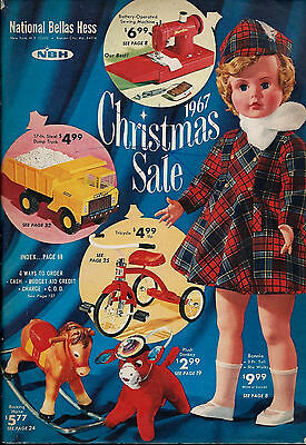 National Bellas Hess  CHRISTMAS SALE BOOK for 1967  WISHBOOK Catalog NBH