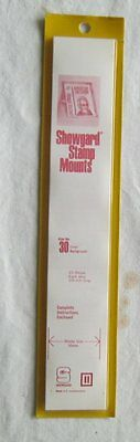 Showgard Stamp Mounts Size 30 Clear 1980's NOS