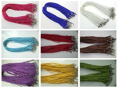 Hot sell Wholesale  Suede Leather String 20 inches Necklace Cords 10pcs