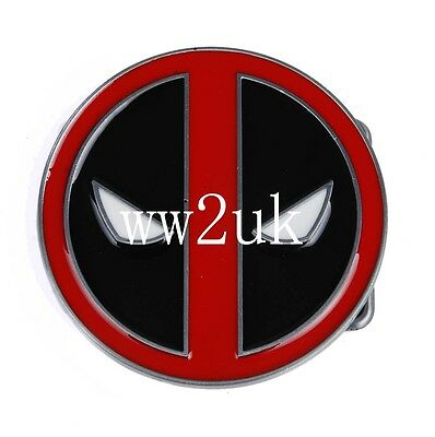 3'' Diameter Deadpool X-Men Wade Alloy Belt Buckle Cosplay Marvel-36174