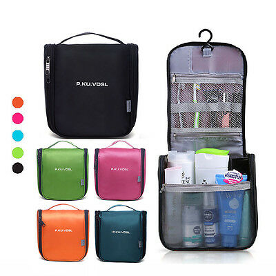 Outdoor Travel Makeup Organizer Hanging Wash Toiletry Bag Cosmetic Pouch Hiking