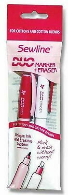 Sewline Duo Marker and Eraser Pack - MEDIUM POINT