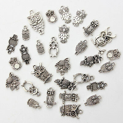 30 x Mixed Tibetan Silver Charms Beads Pendant Fit DIY Bracelet Necklace Chain